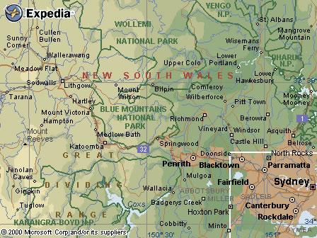 Australia Map Mountains.Australia Road Maps Nsw Blue Mountains Region Map