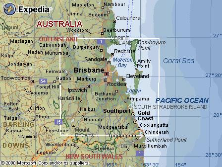 Australia Road Maps QLD Brisbane Region Map - Australia map queensland