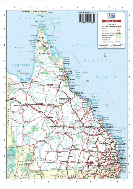 Map Queensland Australia.Australia Road Maps Queensland