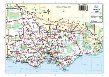 Road Map Victoria Australia.Australia Road Maps Victoria