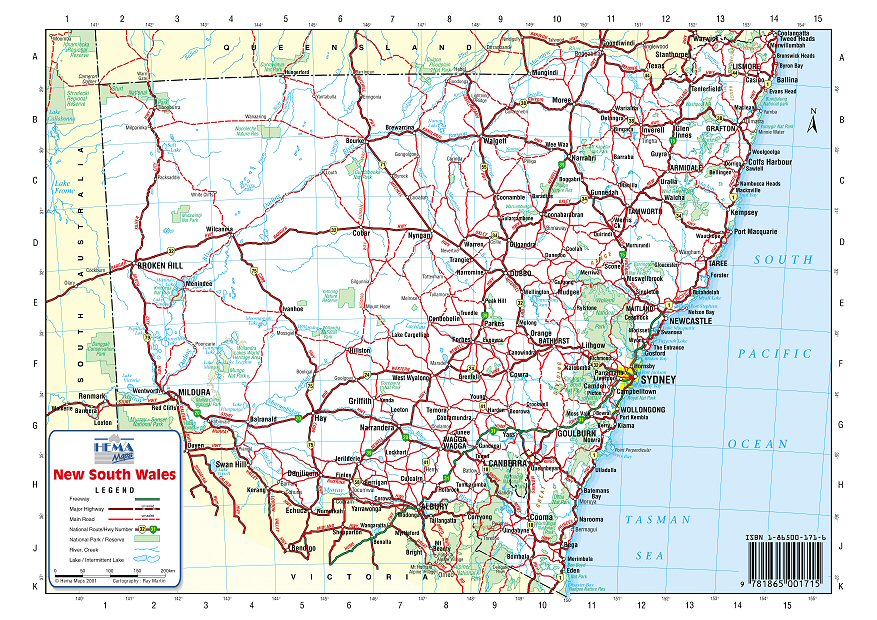 Nsw Road Map Australia Road Maps   NSW Nsw Road Map